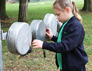 Students using Chimes