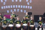 Entertainment - students play drums